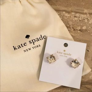NEW KATE SPADE Gumdrop Stud Earrings CZ Studs NWT